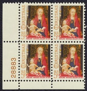 #1321 5c Madonna and Child, Plate Block [28883 LL] Mint **ANY 4=FREE SHIPPING**