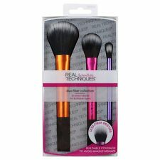 Real Techniques 3-pc Duo-Fiber Collection Makeup Brush Set