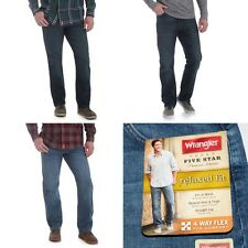 New Wrangler Relaxed Fit Jeans with Flex 3 Colors Men's Big Sizes W 44 46 48 50