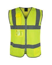 Hi Vis Safety Vest Frontal Pockets Cool Dry Mesh Back Ansi Class 2