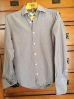 Banana Republic Shirt Lavender Tone Button Front long Sleeve SZ 14 14 1/2 Mens