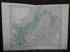 Antique Maps, French Atlas, c. 1870, Hand Color, Italy S27