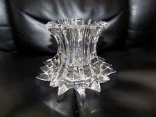 PartyLite P7378 Aurora Pillar Candle Holder Lead Crystal Collection NEW LAST ONE