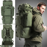 80L Internal Frame Travel Hiking Trekking Camping Hunting Backpack Rucksack Bag