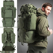 80L Internal Frame Travel Hiking Trekking Camping Hunting Backpack Rucksack Bag