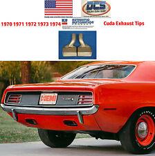 1970 1971 1972 1973 1974 Cuda Chrome Exhaust Tips CORRECT MOPAR USA