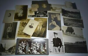 Neat Estate Fresh Antique Photo lot RPPC's Real Photo Post Cards Military Travel