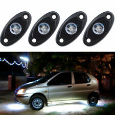 4Pcs Aluminum 9W Bright White LED Rock Lights Accent Under Car Body For Jeep