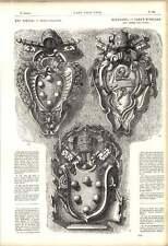 1863 capas de brazos los papas Leo X Sextus V 16th Century italiano obra de arte