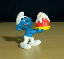 Smurfs McDonalds Birthday Cake Smurf Original Figure Vintage Toy Promo Figurine