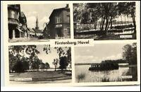Fürstenberg Havel Brandenburg alte DDR Mehrbild AK 1970 Bootshaus Schwedtsee u.a