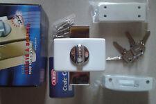 VERROU haute sûreté BLANC  ABUS STYL + 4 clés.