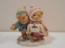 "1998 Cherished Teddies Keith & Deborah ~ The Holidays Are Twice As Ice ~ 4"" Tall"