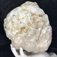 "9"" 10Lb Large Unopened Geode Crystal Chalcedony Rattler Large Lapidary Quartz"
