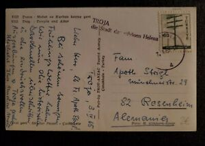 1965 Turkey Rosenheim Germany Temple Altar of Troy Real Picture Postcard Cover