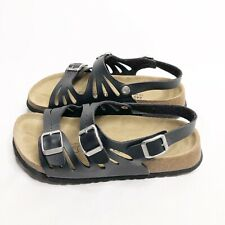 Betula by Birkenstock Black 3 Buckle Sandals Size 37/6