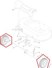 """Genuine TORO Timemaster 20975 30"""" RUOTE ANTERIORI (COPPIA) Inc CUSCINETTI 125-2510 U321V"""