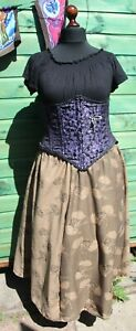 Long Skirt Hand Made Goddess Size Steampunk Plus Size 18 20 22 24 Pagan Hippy