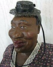 1991 Daddy Long Legs MS HATTIE Black Americana Woman Lady Doll  w/ Hat Signed
