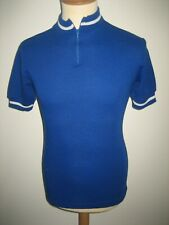 Blue NMS spaarbank vintage Holland jersey shirt cycling maillot size 50, M