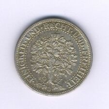 "GERMANY  WEIMAR REPUBLIC   ""OAKTREE""   1927-J  5 REICHMARK  SILVER COIN, XF+"