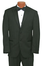 Men's Black Calvin Klein Pinstriped Tuxedo with Pants Wedding Groom Prom 40L 34W