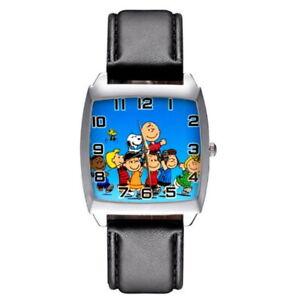 Montre à quartz NEUVE Bracelet Cuir ! ( Watch ) - Snoopy Peanuts