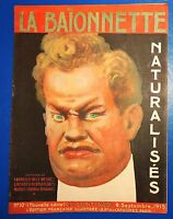 La Baïonnette n°10. 9 septembre 1915 - Naturalisés. CAPPIELLO
