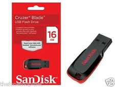 Sandisk 16GB / 16 GB USB Pendrive Flash Drive Cruzer Blade sealed pack/original