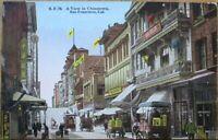 San Francisco, CA 1915 Postcard: Chinatown View - California Cal