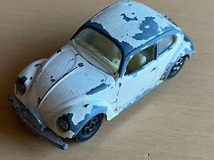 Matchbox Lesney Superfast No 15 White Volkswagen VW Beetle 1500 Rally Car