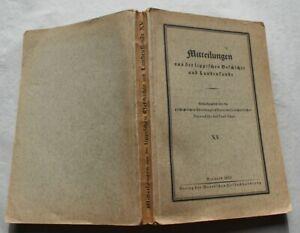 Mitteilungen aus der Lippischen Geschichte und Landeskunde Lippe Detmold 1935