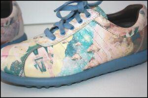 CAMPER Sneakers Lacets Femme Cuir Imprimé Pastel T 37 TTBE