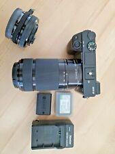 Sony Alpha a6000 24.3MP - Black (Kit 16-50mm 55-210mm) 3 Batteries