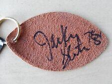 Jackie Slater Autographed Leather Wilson Football Keychain - Hall Of Famer
