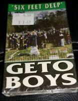 Geto Boys - Six Feet Deep Cassette Single Tape 1993 Rap A Lot Records RARE