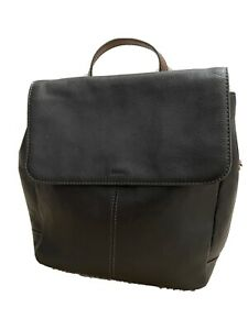 """FOSSIL""""Claire"""" Black Leather Backpack"""