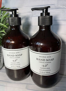 lot/2  Aroma Aria ~ Linen & Lavender ~ Paraben Free Hand Soap 16.9 fl oz Each