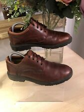 MENS, CLARKS CUSHION CELL, Brown/tan LEATHER, LACE UP SHOES, SIZE 8.5 W
