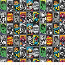 NEW Camelot Marvel III Comic Book Heroes Iron 100% cotton Fabric by the yard