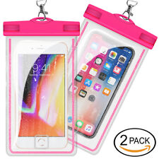 2 pcs Universal Waterproof Phone Case Phone Dry Bag Pouch Sensitive Touch - Pink