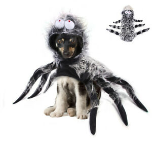 Halloween Pet Dog Cat Black Spider Costumes Cosplay Animal Puppy Party Outfits