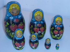 vintage ancienne POUPEE RUSSE matriochka 7 russie URSS Russian Nesting Dolls