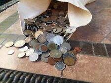 12 POUNDS SIX OUNCES of foreign coin-nice mix even some USA SILVER coins!