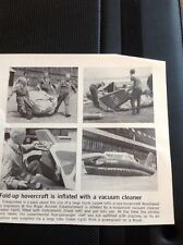63-6 Ephemera 1968 Article Royal Aircraft Establishment Fold Away Hovercraft