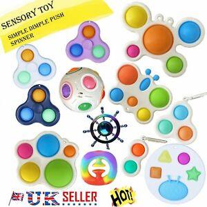 Pop Fidget Toy Push Simple Dimple Bubble Sensory Toy Spinner Push Stress Relief~