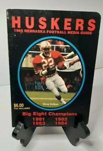 Vintage Huskers 1985 Nebraska Football Media Guide Doug DuBose cover RARE VG