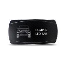 CH4x4 Rocker Switch Jeep JK Bumper LED Bar Symbol - Horizontal- White LED