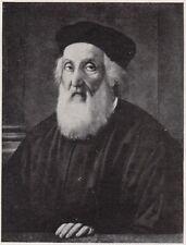 D8259 Ridolfo del Ghirlandaio - Ritratto di Baldo Magini - Stampa - 1931 print