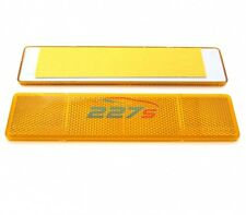 2 x ambré Grand rectangulaire Catadioptre, autocollant, 173mm 40mm ,Remorque etc